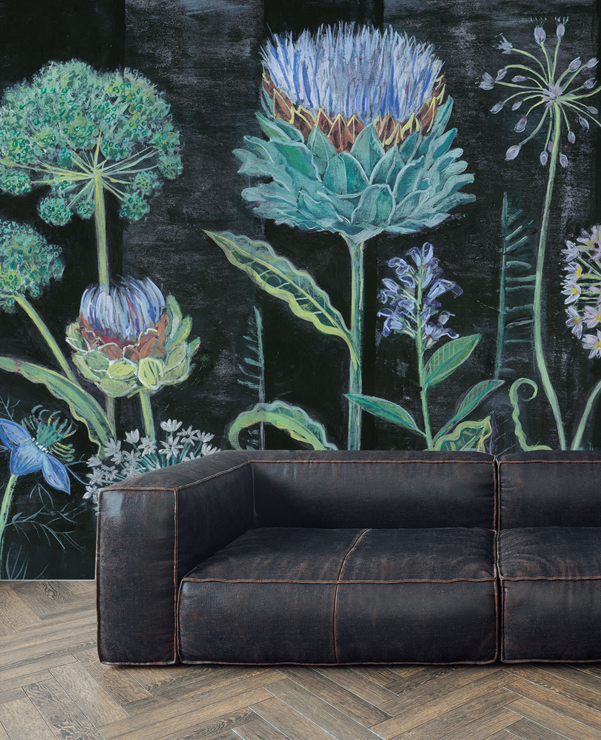 Allium Mural Wallpaper Lucy Tiffney Shop