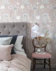 Lucy Tiffney_Jaipur Wallpaper_bedroom