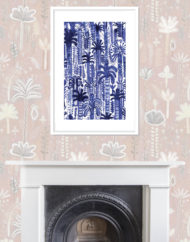 Mirage Giclee Print with Fireplace