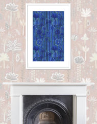 Riviera Giclee Print with Fireplace