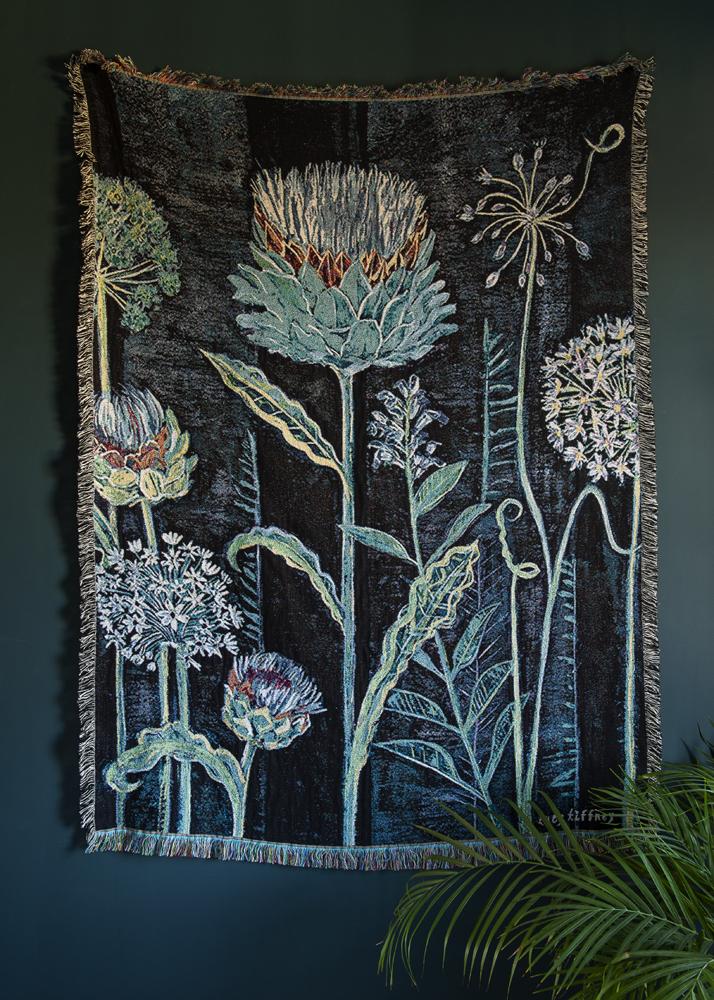 Allium Blanket 180x135cm Lucy Tiffney Shop